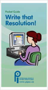 Pocket Guide - Write that Resolution