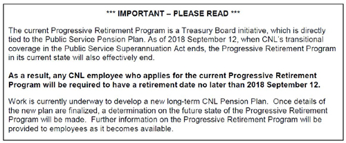 Important Message - Re: Treasury Board initiative