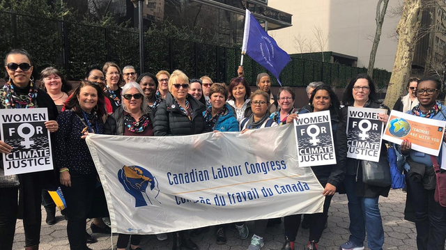 Norma Domey and the Canadian Labour Congress Delegation