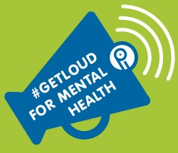 "Mental Health Week slogan ""Get Loud"" with PIPSC signature"