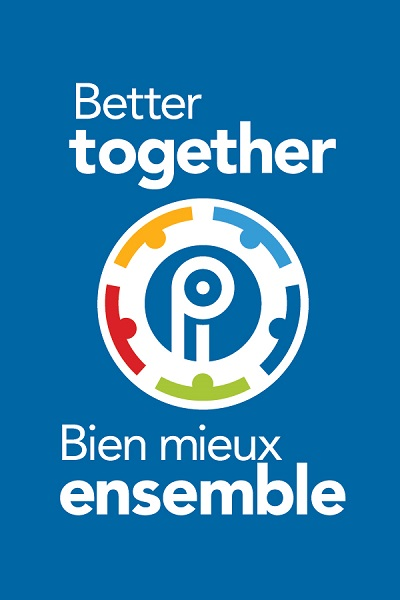 Better Together Logo - Vertical - White text - Bilingual (English first)