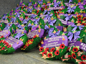wreaths at National War Memorial
