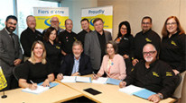 CS Collective Agreement Signing at the table