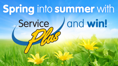 Spring into summer with ServicePlus and win!
