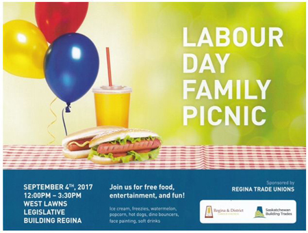 Regina Labour Day 2017 poster