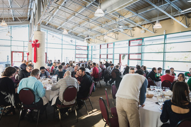Annual Christmas Luncheon at Boucherville Research Center, December 20, 2017